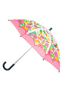 Stephen-Joseph---Regenschirm-für-Mädchen---Schmetterling---Naturweiß/Rosa