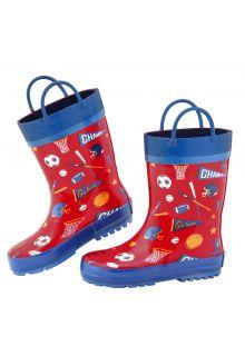Stephen-Joseph---Regenstiefel-für-Jungen---Sport---Rot/Blau