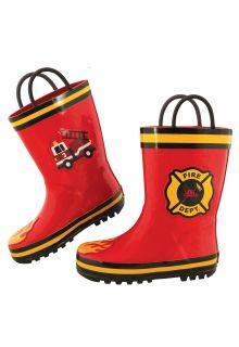 Stephen-Joseph---Regenstiefel-für-Jungen---Feuerwehr---Rot