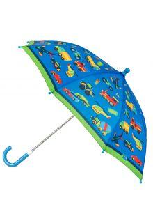 Stephen-Joseph---Regenschirm-für-Jungen---Fahrzeuge---Blau/Grün