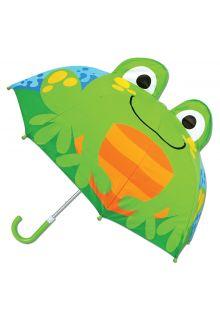 Stephen-Joseph---Pop-up-Regenschirm-für-Kinder---Frosch---Hellblau