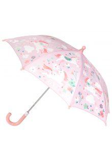 Stephen-Joseph---Farbwechselnder-Regenschirm-für-Mädchen---Einhorn---Pink