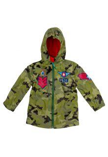 Stephen-Joseph---Regenjacke-für-Jungen---Pilot---Camouflage-grün