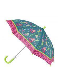 Stephen-Joseph---Regenschirm-für-Mädchen---Meerjungfrau---Türkis/Multi