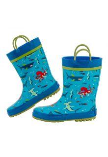 Stephen-Joseph---Regenstiefel-für-Jungen---Hai---Hellblau/Blau