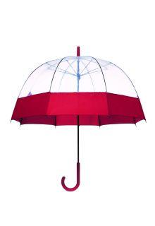 Hunter---Regenschirm-für-Erwachsene---Original-Moustache-Bubble---Rot