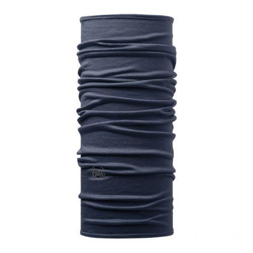 Buff---Leichter-Merino-Rundschall-Solid-für-Erwachsene---Denimblau