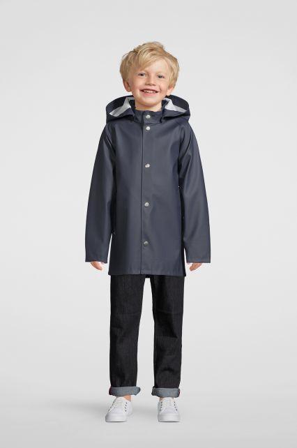 Stutterheim---Regenjacke-für-Kinder---Mini-Stockholm---Marineblau