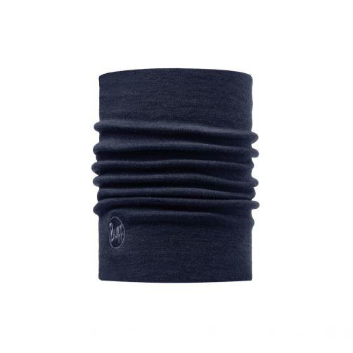 Buff---Warmer-Merino-Schlauchschal-Solid-für-Erwachsene---Denimblau