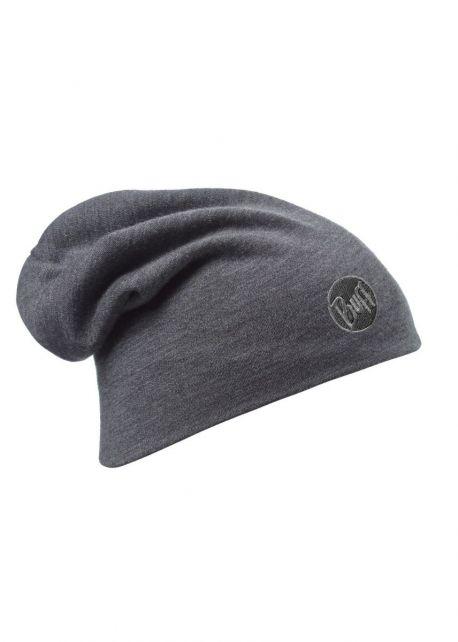 Buff---Warme-Merino-Mütze-Solid-für-Erwachsene---Loose-fit---Grey