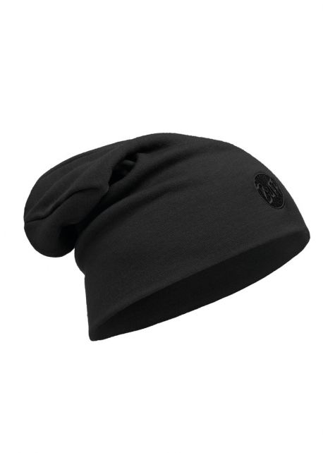 Buff---Warme-Merino-Mütze-Solid-für-Erwachsene---Loose-fit---Schwarz