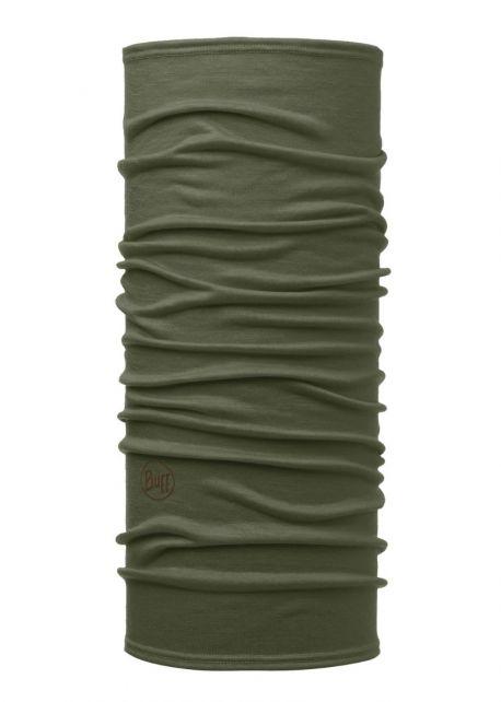 Buff---Leichter-Merino-Rundschall-Solid-für-Erwachsene---Waldgrün