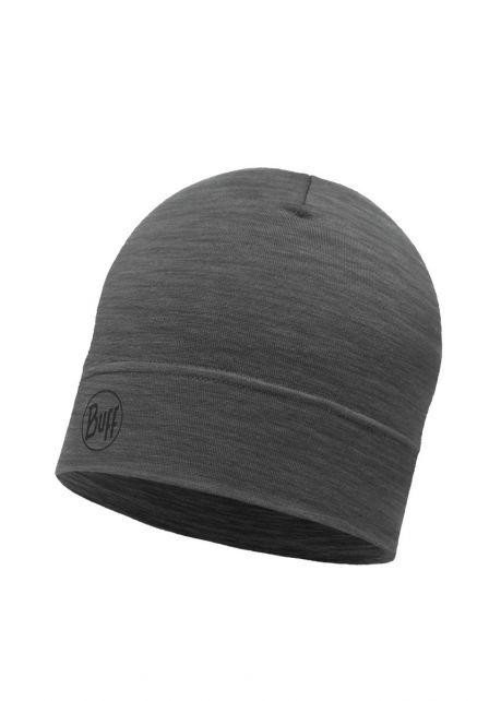 Buff---Leichte-Mütze-Solid-aus-Merinowolle-für-Erwachsene---Dunkelgrau
