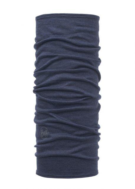 Buff---Leichter-Merino-Rundschall-Solid-für-Kinder---Denimblau