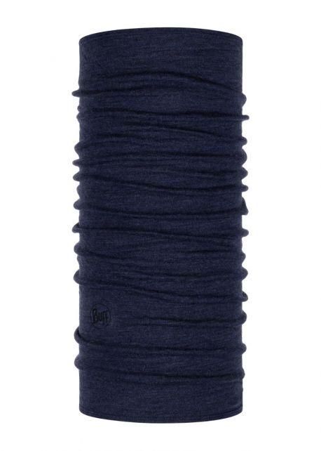 Buff---Rundschal-Melange-aus-Merinowolle-für-Erwachsene---Nachtblau