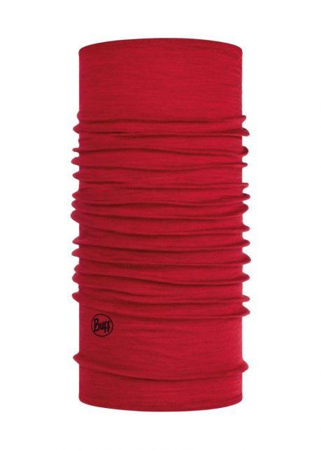 Buff---Schlauchschal-Solid-aus-Merinowolle-für-Erwachsene---Rot
