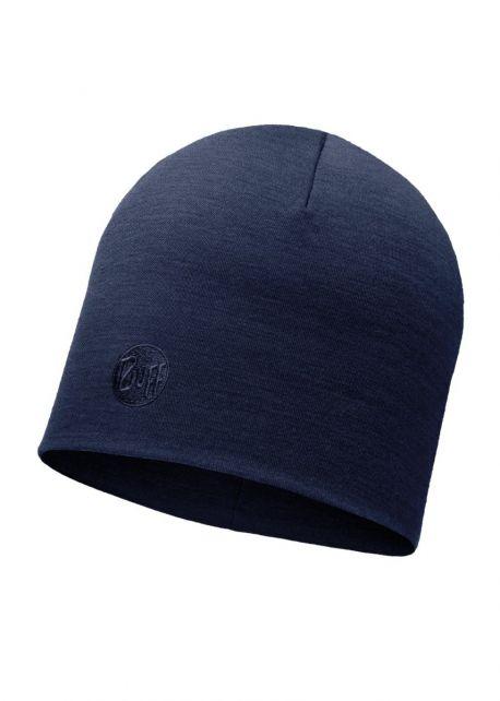 Buff---Warme-Merino-Mütze-Solid-für-Erwachsene---Regular-fit---Blau