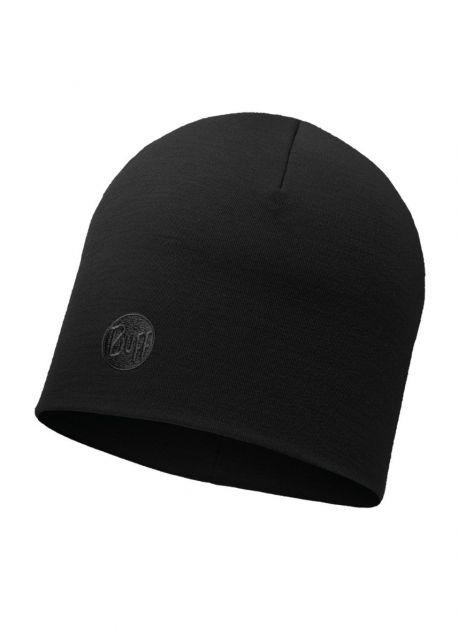 Buff---Warme-Merino-Mütze-Solid-für-Erwachsene---Regular-fit---Schwarz