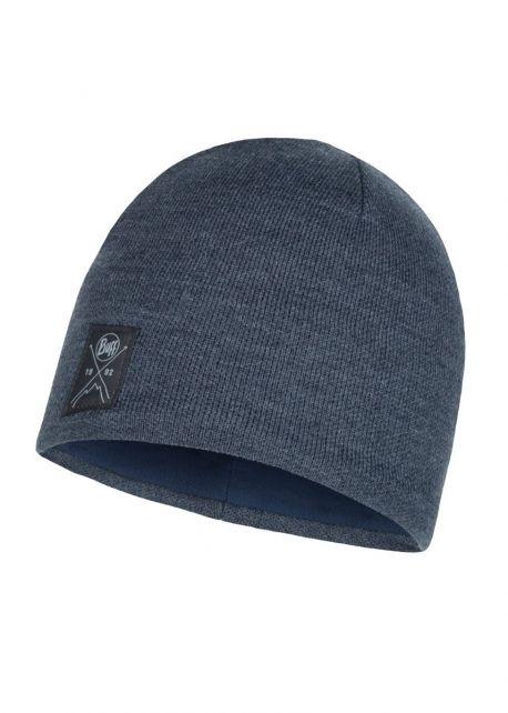 Buff---Strickmütze-Polar-Solid-für-Erwachsene---Marineblau
