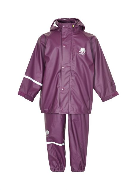 CeLaVi---Regenanzug-für-Kinder---Dunkelviolett