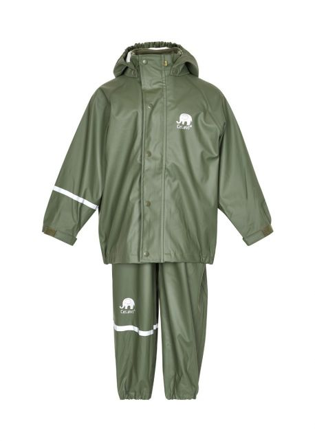 CeLaVi---Regenanzug-für-Kinder---Dunkelgrün