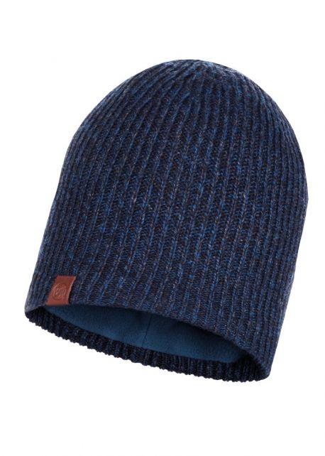 Buff---Strickmütze-Polar-Lyne-für-Erwachsene---Nachtblau