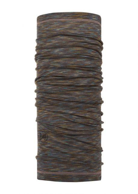 Buff---Leichter-Merino-Rundschall-Stripes-für-Erwachsene---Braun/Multi
