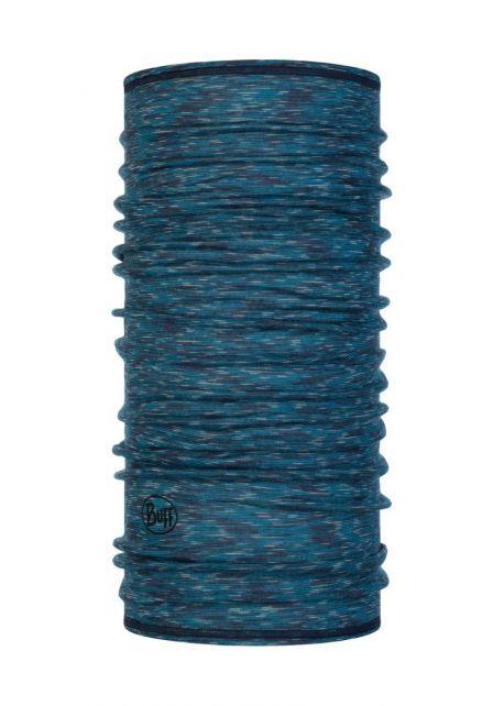 Buff---Leichter-Merino-Rundschall-Stripes-für-Erwachsene---Blau/Multi