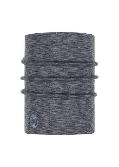 Buff---Warmer-Merino-Schlauchschal-Stripes-für-Erwachsene---Nebelgrau