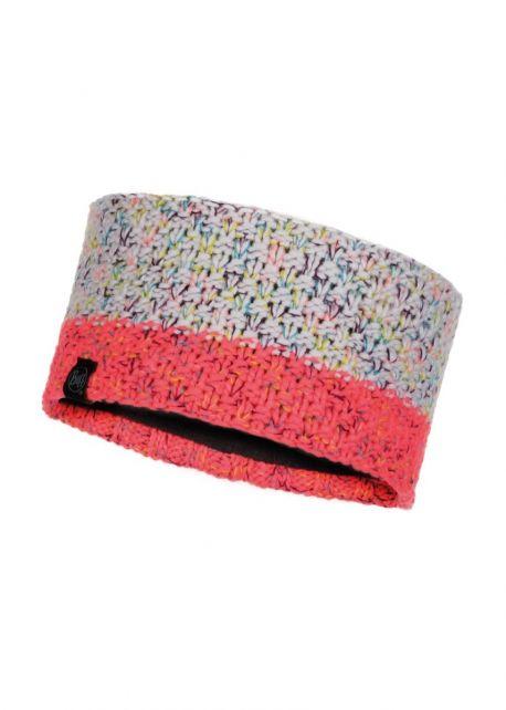 Buff---Gestricktes-Stirnband-Polar-Janna-für-Erwachsene---Rosa/Multi