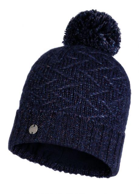 Buff---Pompom-Strickmütze-Polar-Ebba-für-Erwachsene---Nachtblau