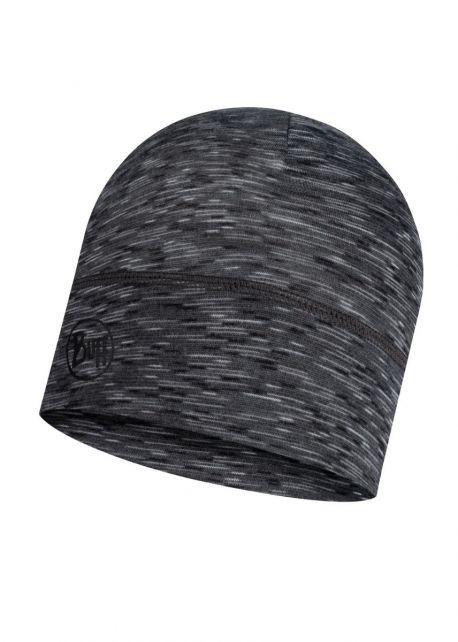 Buff---Leichte-Merino-Mütze-Stripes-für-Erwachsene---Grau/Multi