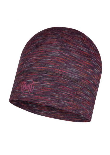 Buff---Leichte-Merino-Mütze-Stripes-für-Erwachsene---Dunkelgrau/Multi
