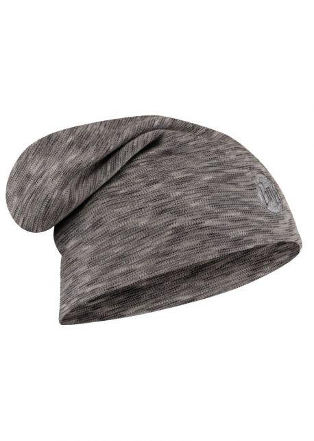Buff---Warme-Merino-Mütze-Stripes-für-Erwachsene---Loose-fit---Grau