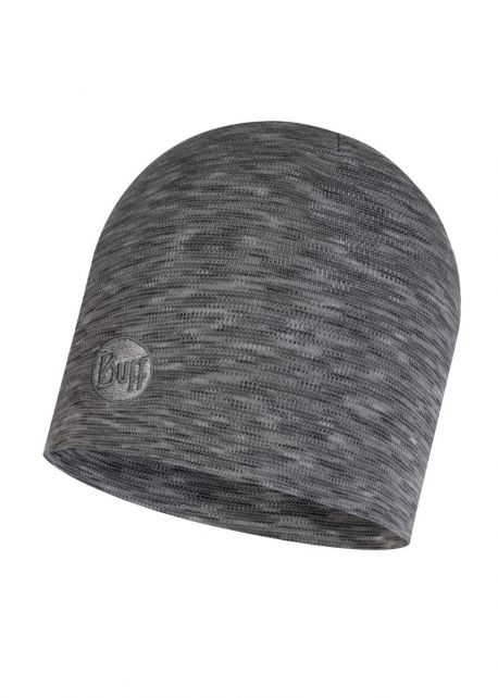 Buff---Warme-Merino-Mütze-Stripes-für-Erwachsene---Regular-fit---Grau