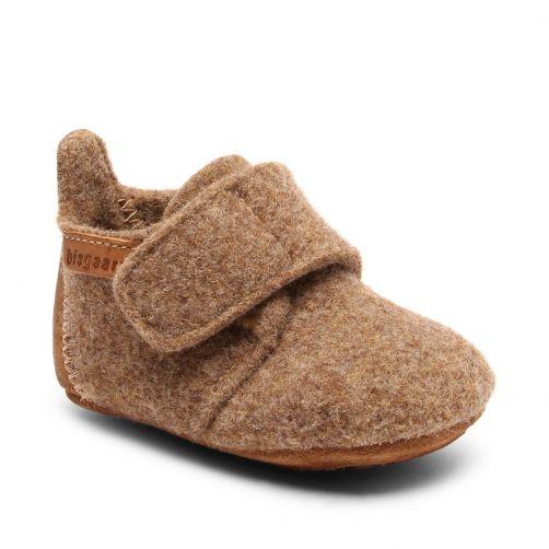 Bisgaard---Pantoffeln-für-Babys---Baby-wool---Gelb