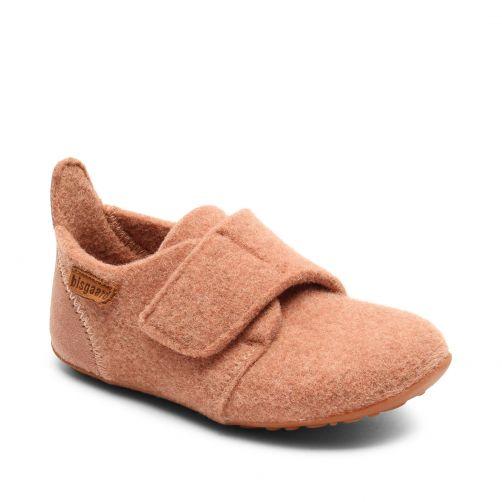 Bisgaard---Pantoffeln-für-Babys---Casual-wool---Rose