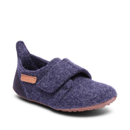 Bisgaard---Pantoffeln-für-Babys---Casual-wool---Blau