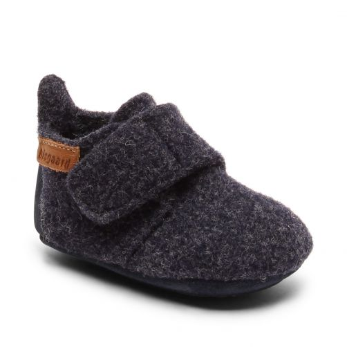 Bisgaard---Pantoffeln-für-Babys---Baby-wool---Blau