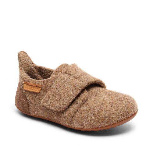 Bisgaard---Pantoffeln-für-Babys---Casual-wool---Braun
