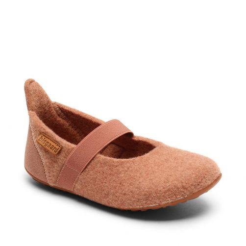 Bisgaard---Pantoffeln-für-Babys---Ballet-wool---Rose