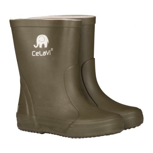 CeLaVi---Gummistiefel-für-Kinder---Dunkelgrün