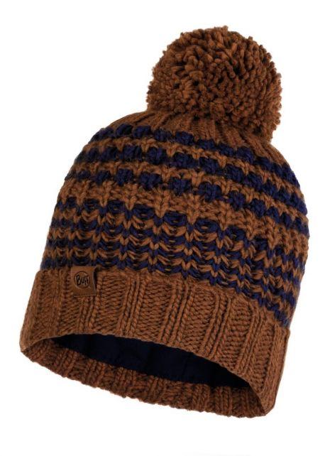 Buff---Pompom-Strickmütze-Polar-Kostik-für-Erwachsene---Braun/Nachtblau