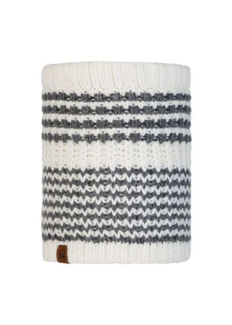 Buff---Strick-Rundschal-Polar-Kostik-für-Erwachsene---Weiß/Grau
