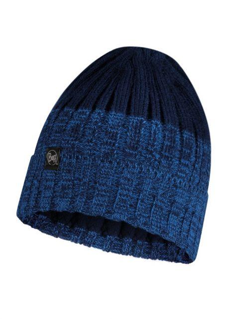 Buff---Strickmütze-Polar-Igor-für-Erwachsene---Nachtblau