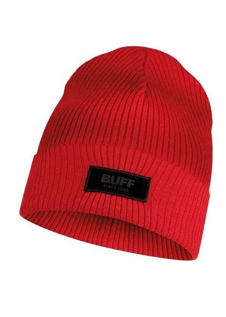 Buff---Strickmütze-Marik-für-Kinder---Rot