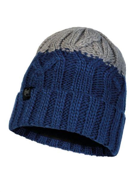 Buff---Strickmütze-Polar-Ganbat-für-Kinder---Blau/Grau