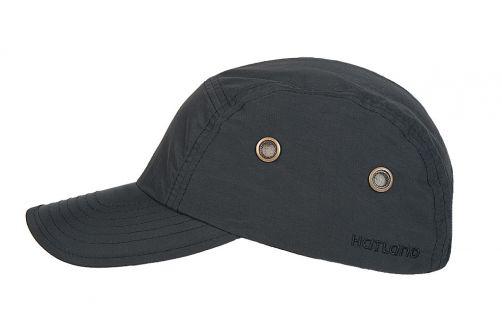 Hatland---Wasserdichte-UV-Baseballkappe-für-Herren---Reef---Schwarz