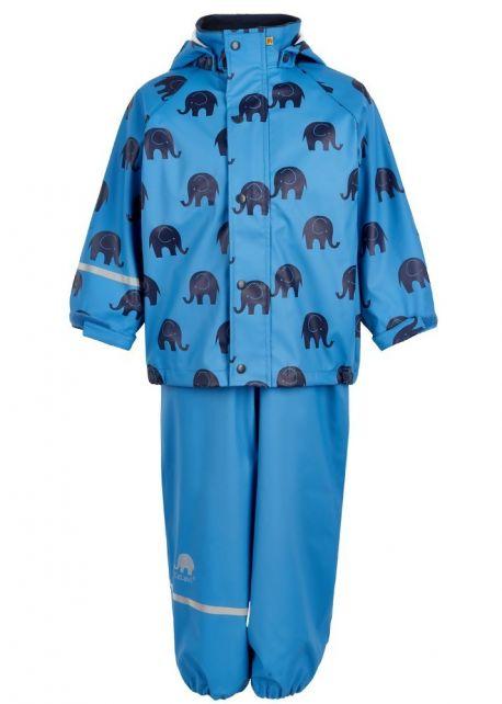 CeLaVi---Regenanzug-mit-Elefantenaufdruck---Hellblau
