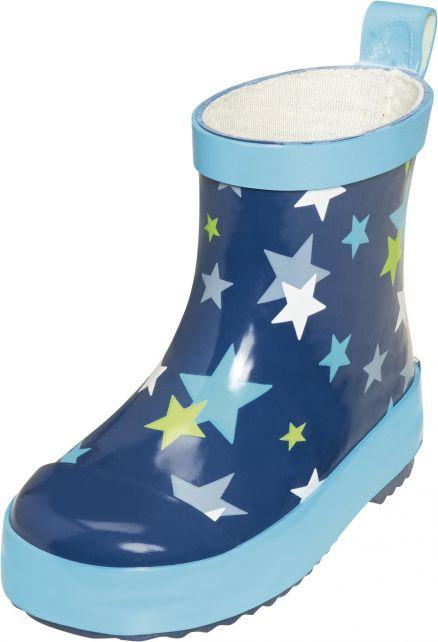 Playshoes---Kurze-Gummistiefel---Blau-Sterne